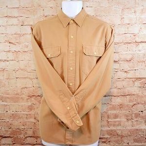 Polo Ralph Lauren Mens Tan Oxford L/S Shirt NWT